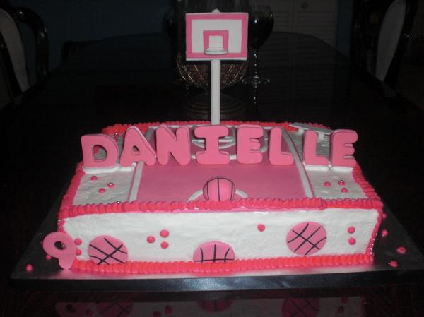 Girl S Basketball Birthday Cake